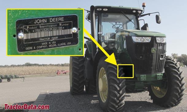 John Deere 7230R serial number location