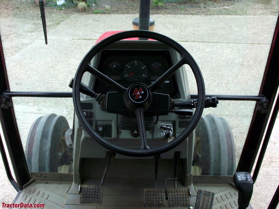 Massey Ferguson 6130 cab interior.