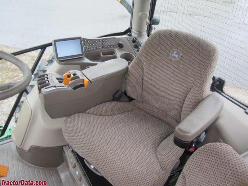 John Deere 6190R seat and transmission controls.