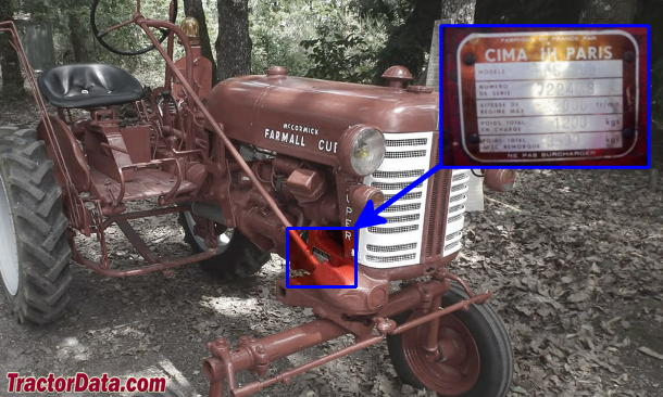 Farmall Super Cub serial number location