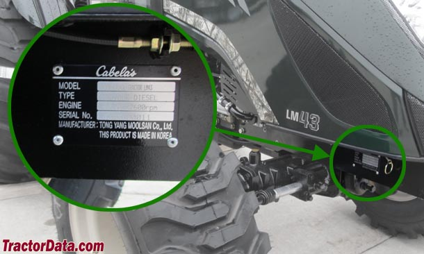 Cabelas LM43 serial number location