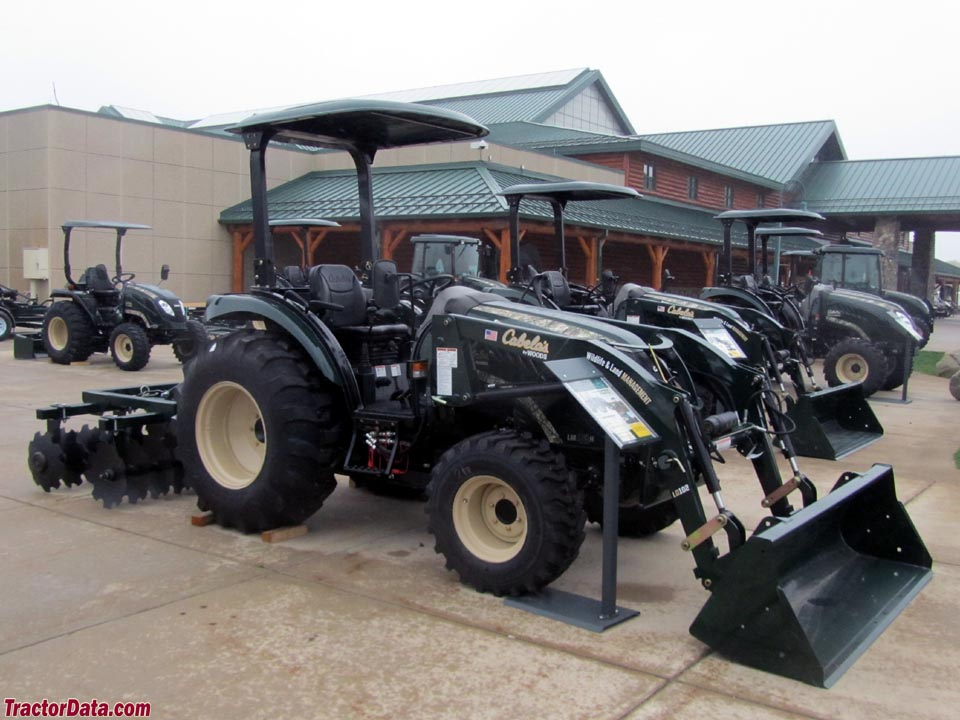 Cabela's LM43H with ROPS and front-end loader.