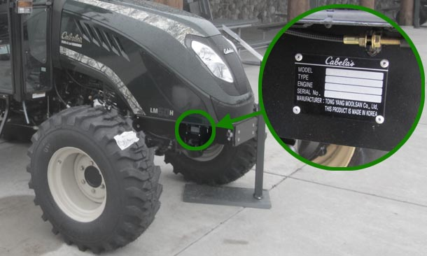 Cabelas LM50 serial number location