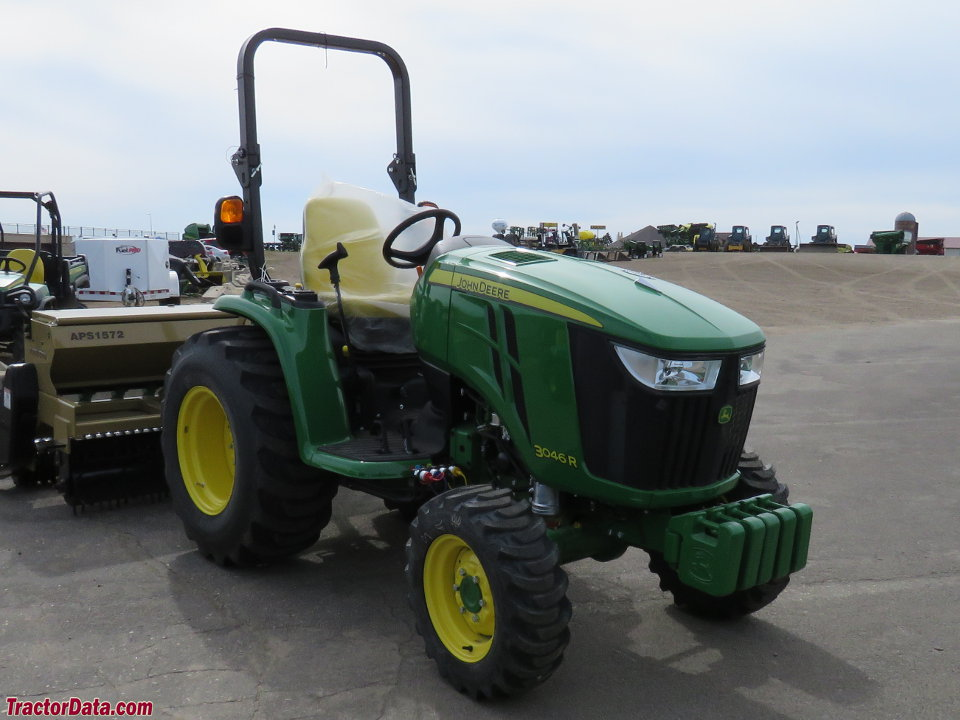 John Deere 3046R with ROPS.