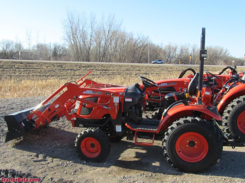 Kioti CK2510 with KL2510 front-end loader.