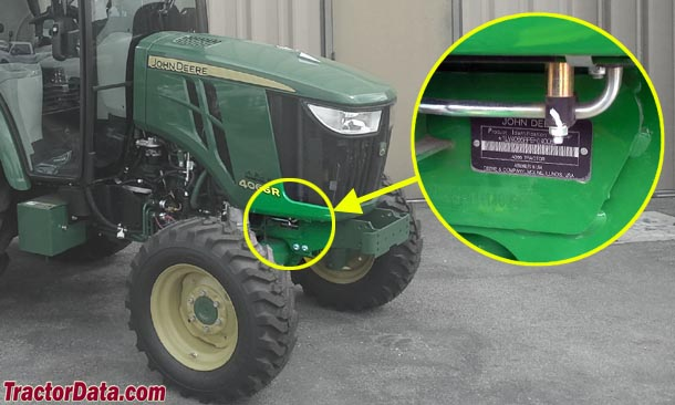 John Deere 4049R serial number location