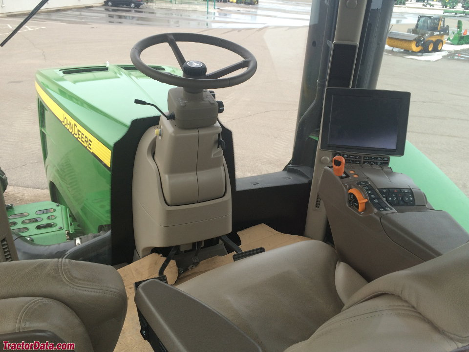 John Deere 9620RX cab interior.
