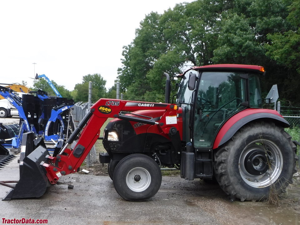 Case IH Farmall 115C with L735 front-end loader.
