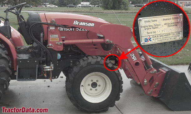 Branson 5220H serial number location