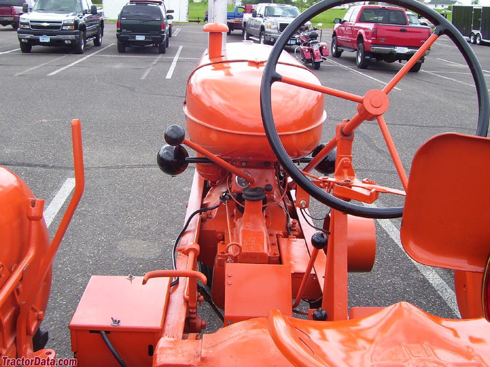 Styled Allis-Chalmers WC operator station and controls.