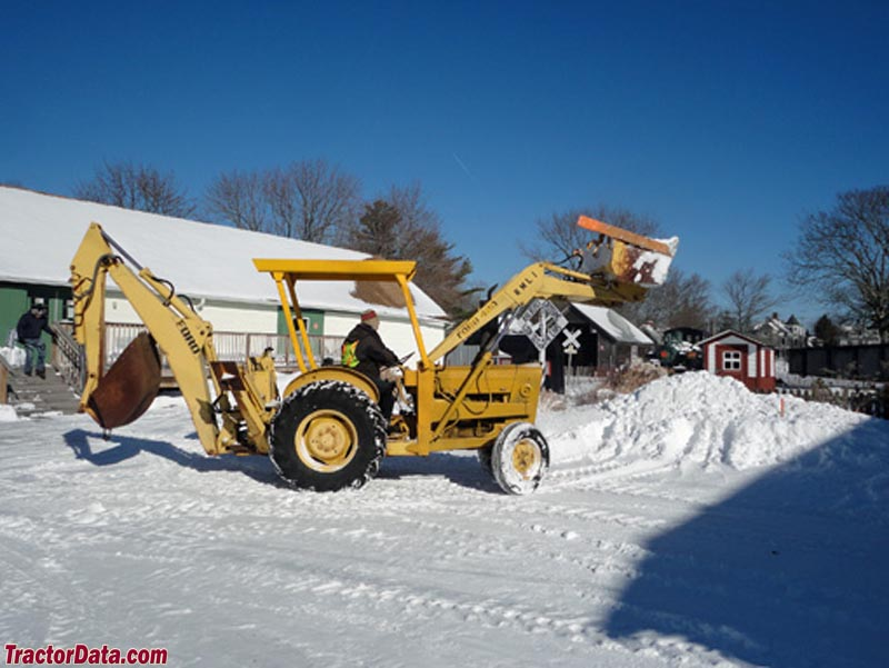 Ford 420 backhoe, right side.