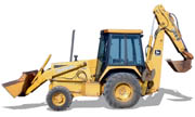 John Deere 300D backhoe photo