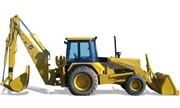 John Deere 710C backhoe photo