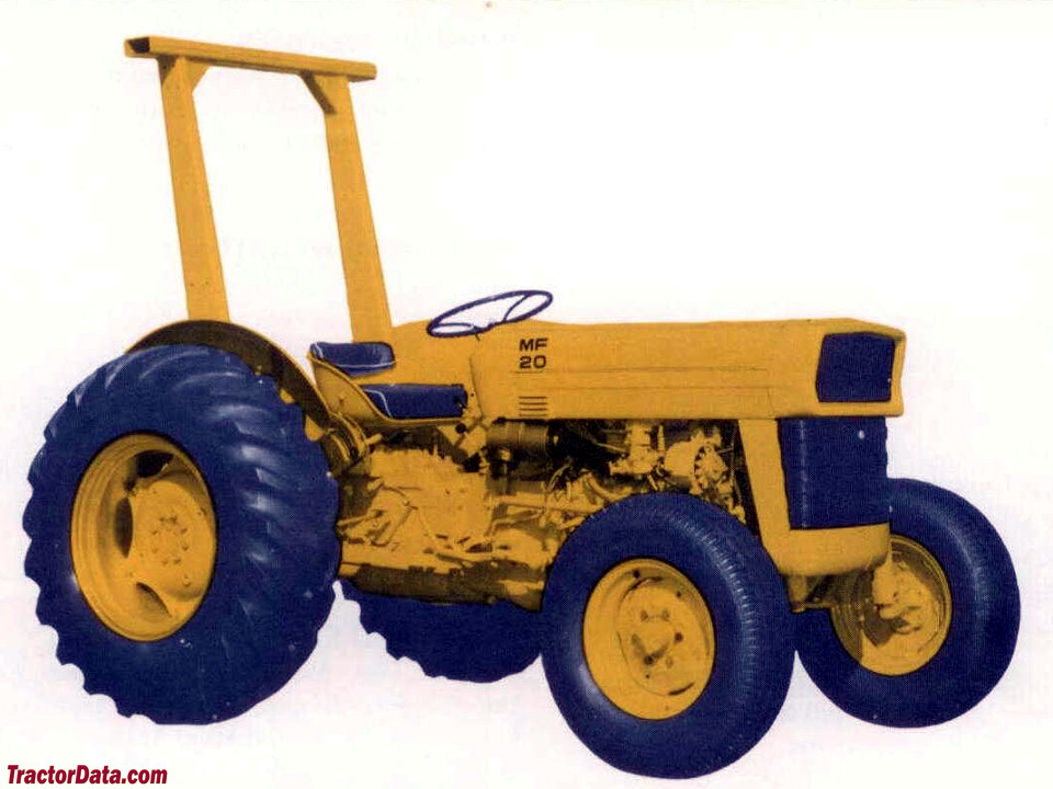 Massey Ferguson 20 industrial tractor. Marketing image.