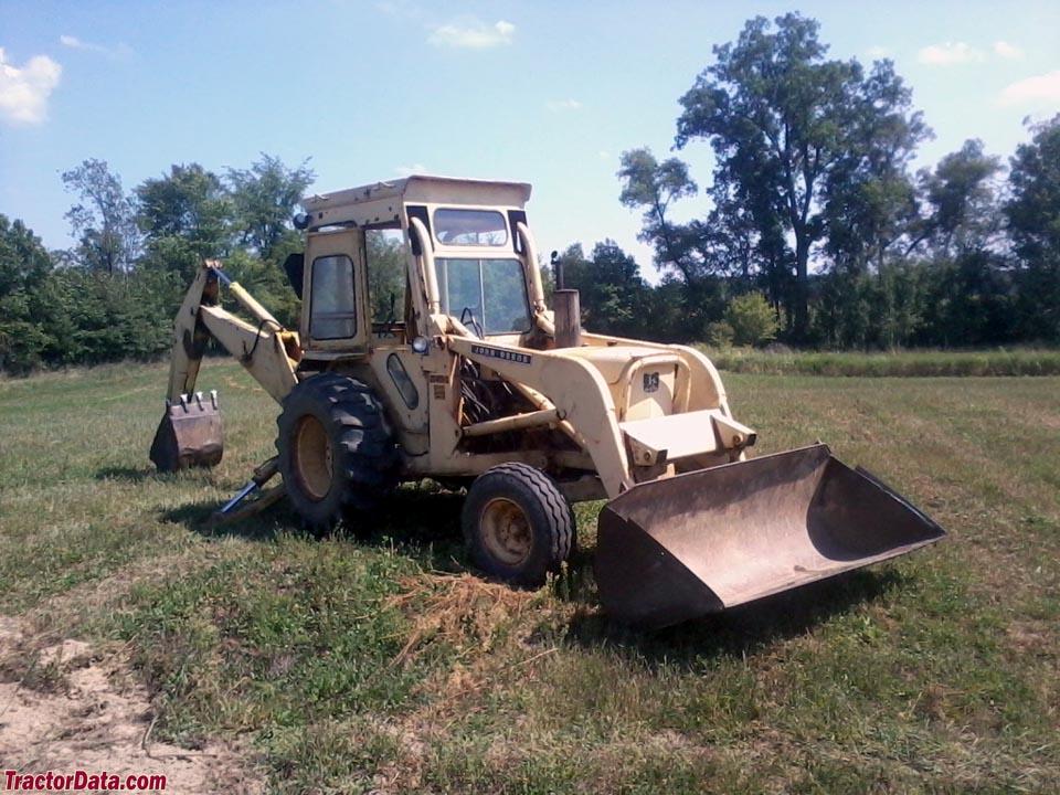 John Deere 401C backhoe-loader tractor with cab.