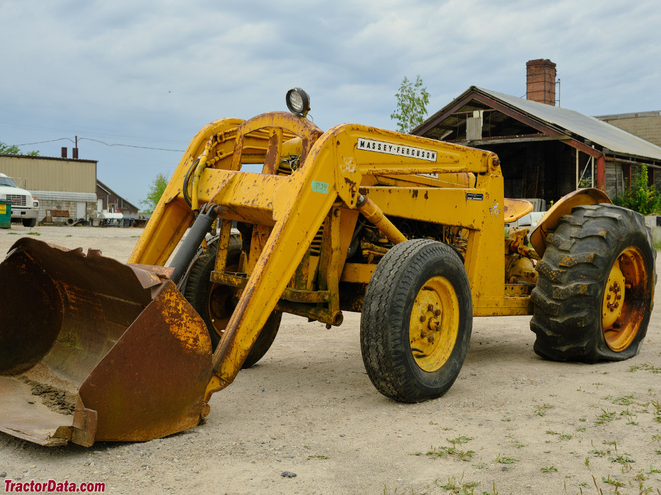 Massey 35 industrial with model 100 front-end loader.