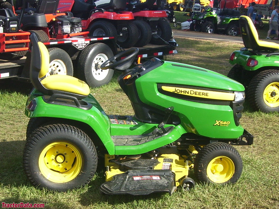 right-side view of John Deere X540