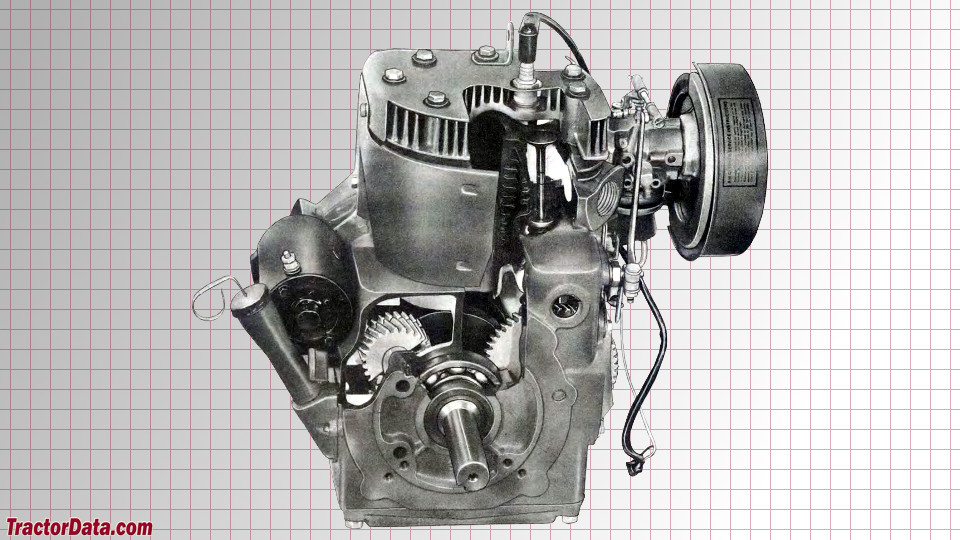 John Deere 140 engine image