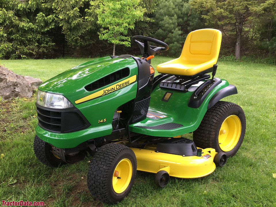 John Deere 145 lawn tractor. Photo contributed in memory of the original owner, Art Brown.