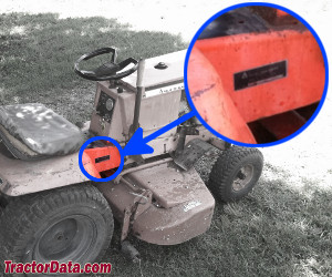 Allis Chalmers 610 serial number location