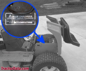 Allis Chalmers T-816 serial number location