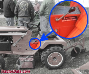 Allis Chalmers 919 serial number location