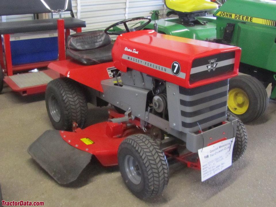 Massey Ferguson 7 with mower.