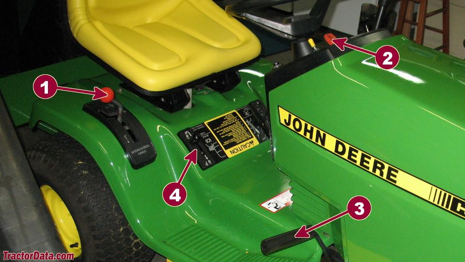 John Deere 185 transmission controls