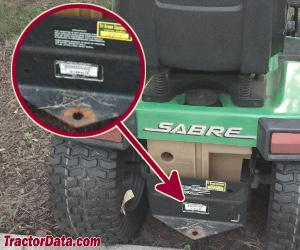 Sabre 2048HV serial number location