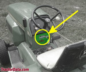 John Deere 200 serial number location