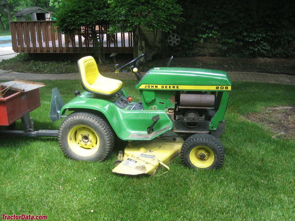 Right side view of the Deere 208
