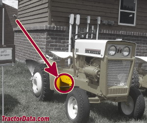 Cub Cadet 100 serial number location