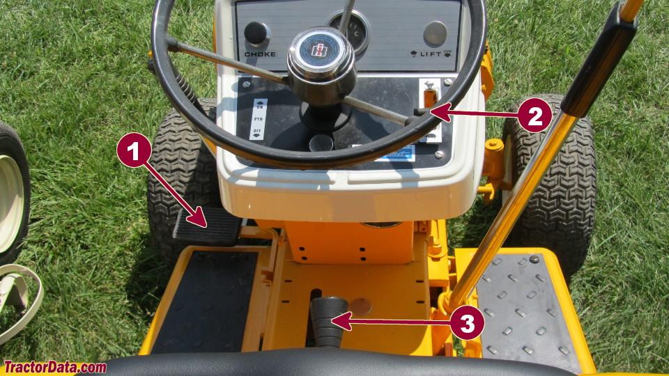 Cub Cadet 106 transmission controls