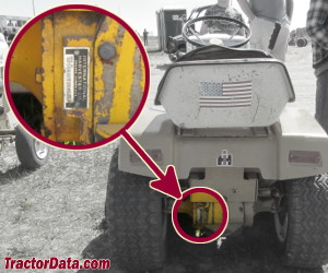 Cub Cadet 107 serial number location
