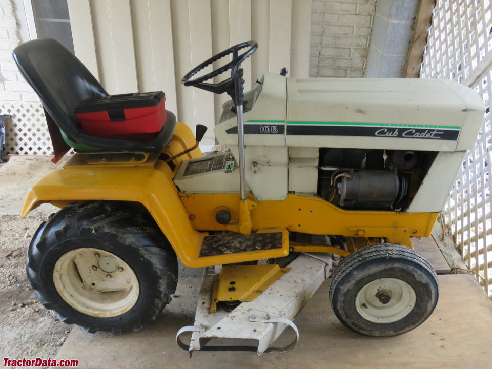 Cub Cadet 108 with mower, right side.