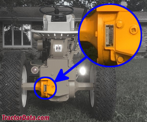 Cub Cadet 109 serial number location
