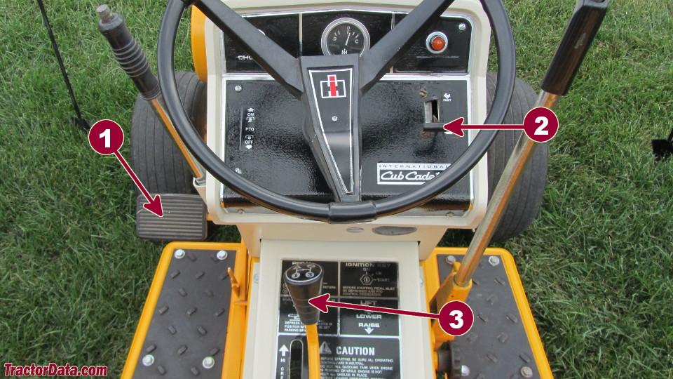 Cub Cadet 128 transmission controls