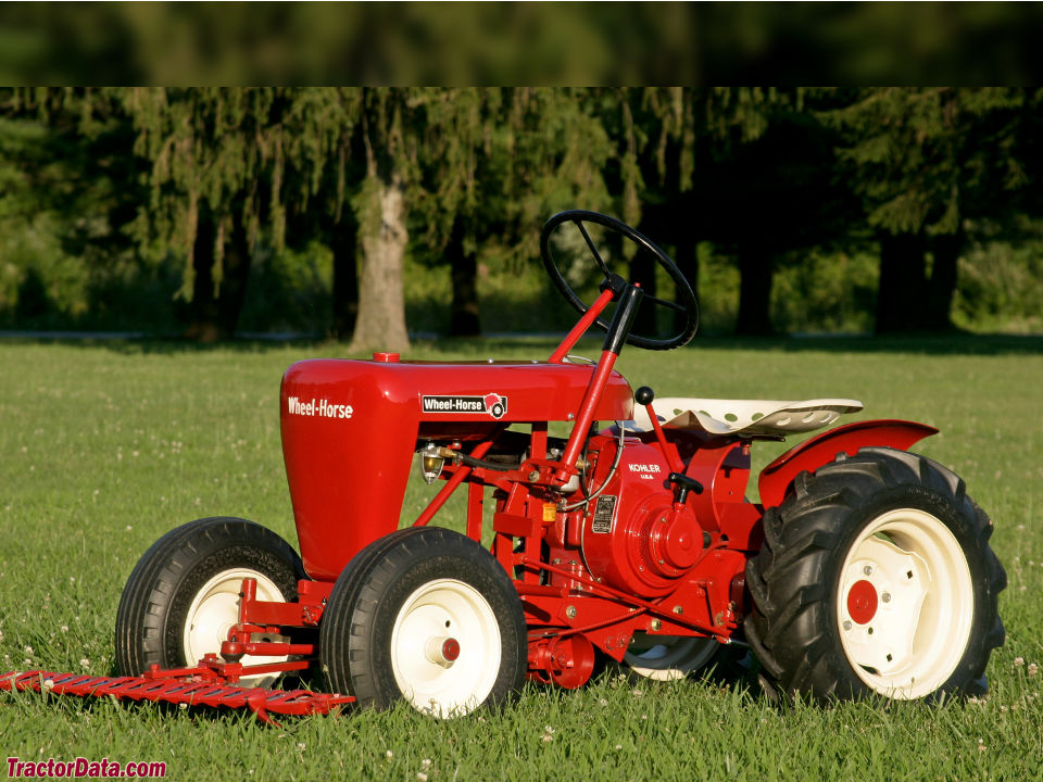 Wheel Horse RJ-58 with front mower, left side.