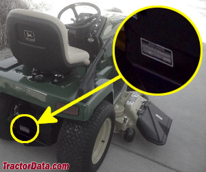 John Deere 265 serial number location