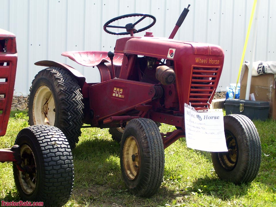 Wheel Horse 502, front-right view.