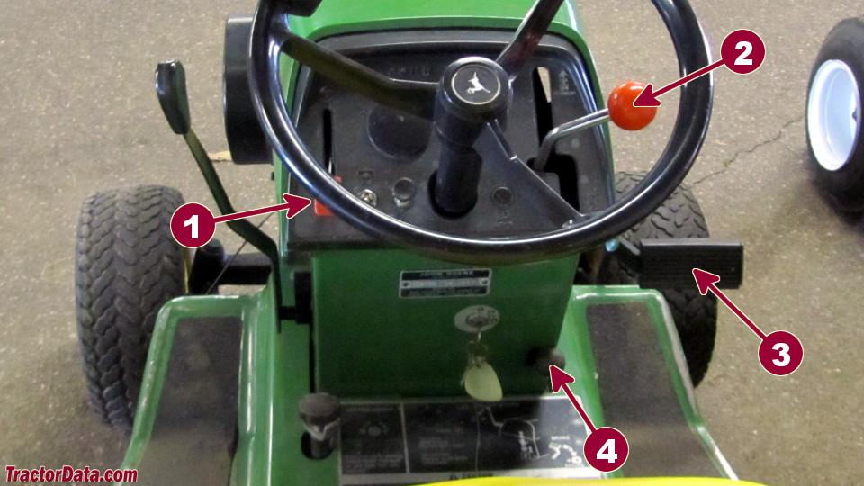 John Deere 312 transmission controls