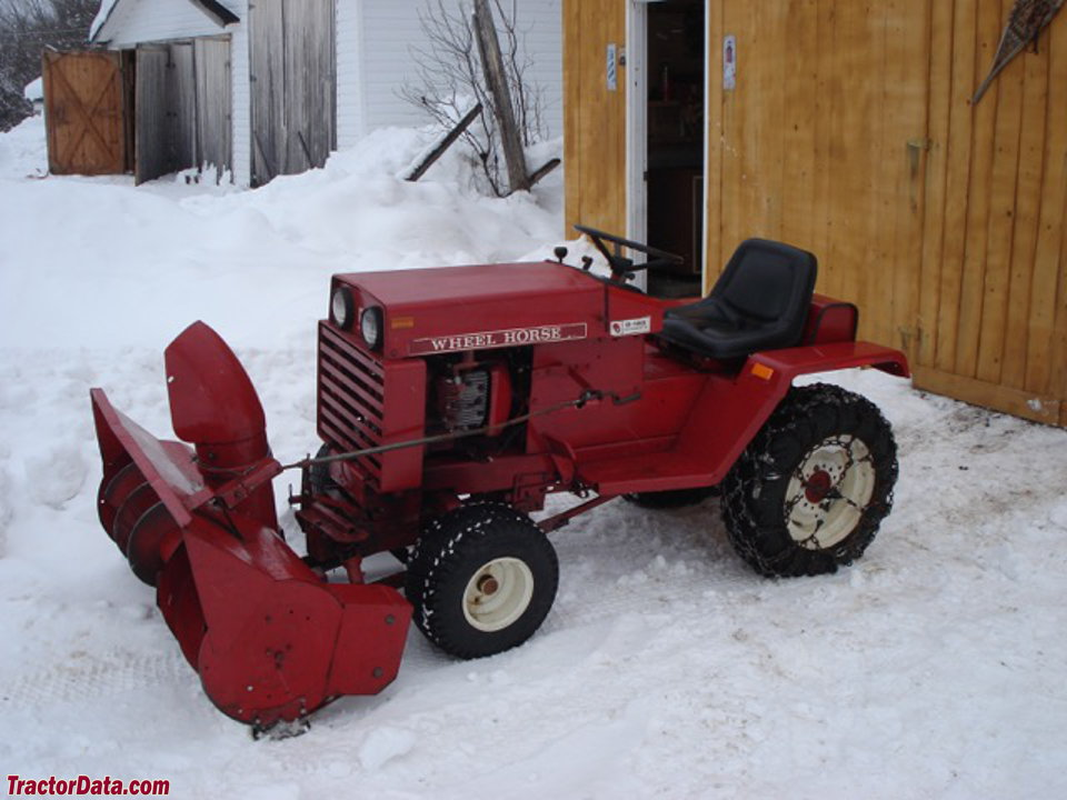 Wheel Horse D-160 with snow blower.