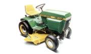 John Deere 317 lawn tractor photo
