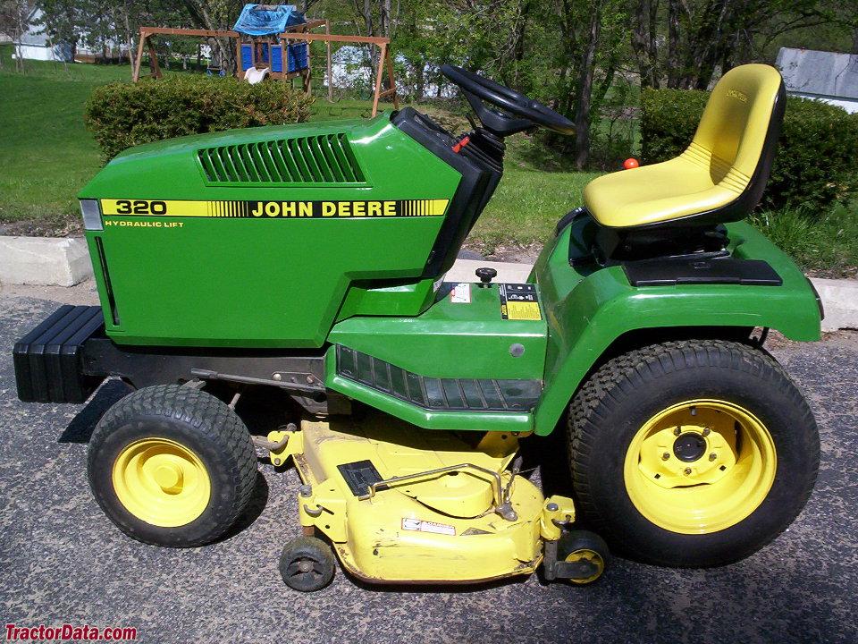 John Deere 320, left side.