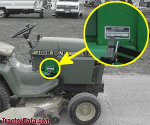 John Deere 322 serial number location