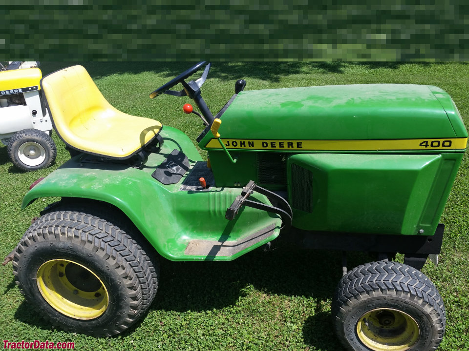 1975 John Deere model 400 garden tractor.