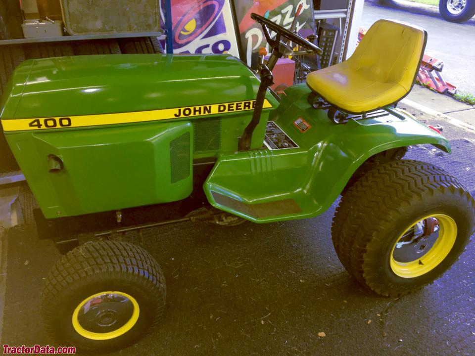 Restored John Deere 400 garden tractor.