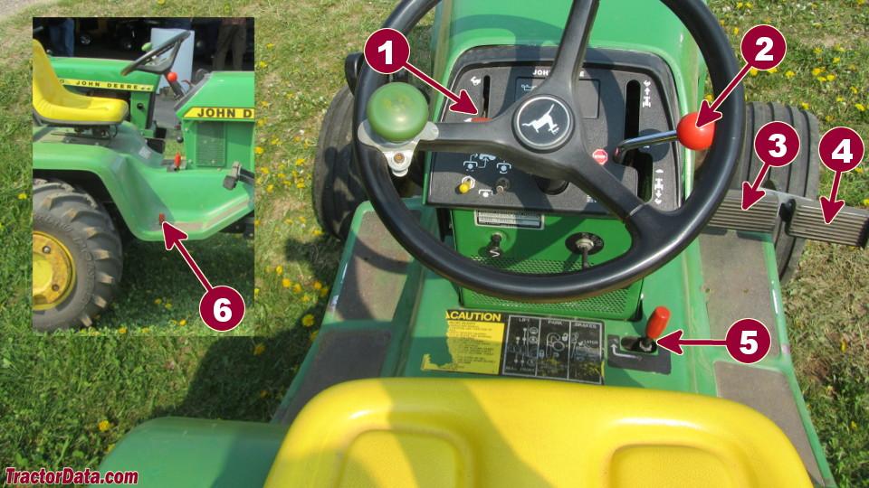 John Deere 420 transmission controls