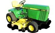 John Deere 430 lawn tractor photo