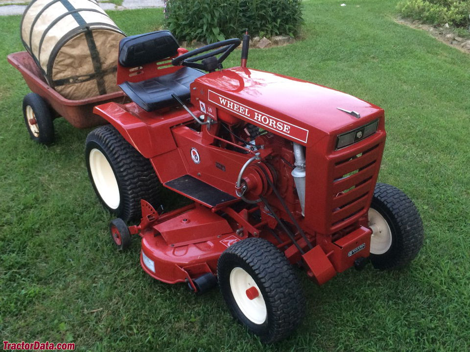 Wheel Horse 10HP 8-speed with mower.